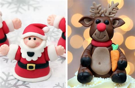 fondant christmas decorations 40 cake ideas fondant cake decorations goodtoknow
