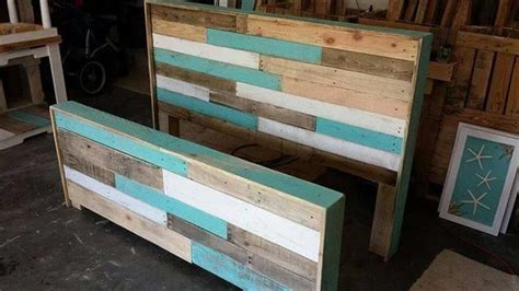 headboard made of pallets diy hand built pallet bed with headboard 99 pallets
