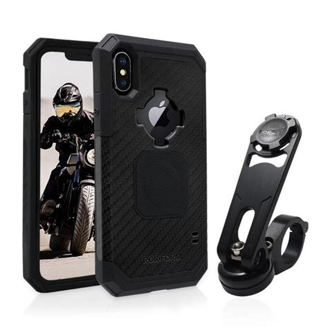 iphone xsx motorcycle handlebar mount pro series  rokform