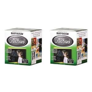 rust oleum specialty specialty 1 qt chalkboard black brush on paint 2 pack discontinued