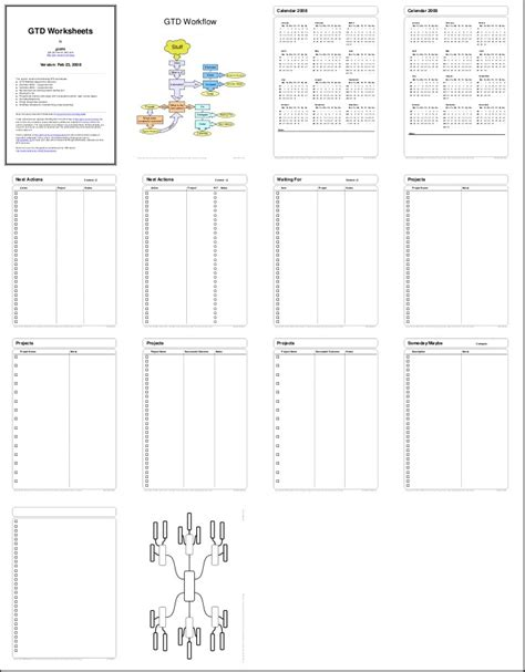 My Gtd Products Getting Things Done Gtd Paper Planner Templates