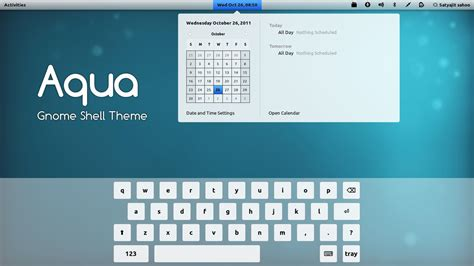 gnome user themes gnome shell aqua by satya164 on deviantart