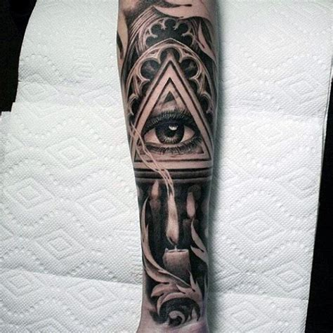 shaded sleeve tattoos for men top 100 eye designs for a complex look closer