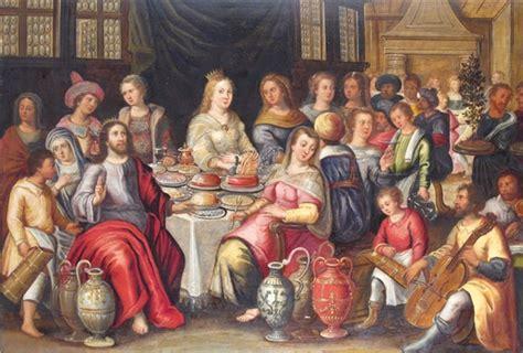 Wedding Feast Cana by Frans Francken Ii The Wedding Feast At Cana