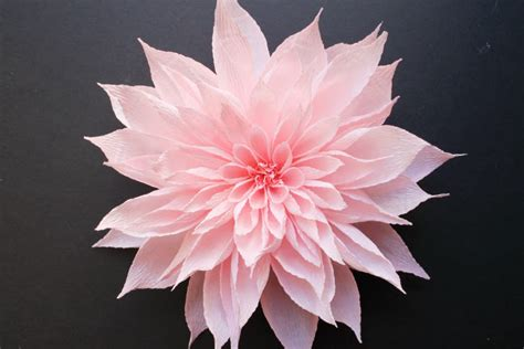 paper dahlia flower tutorial crepe paper flower headpieces by featured artist tiffanie