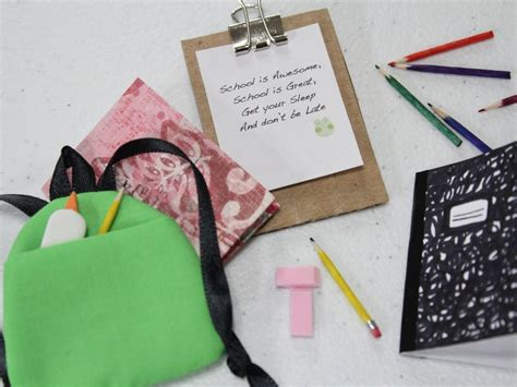 Book Stuff On Handbagcom by How To Make A Doll School Supplies Book Bag Doll Crafts