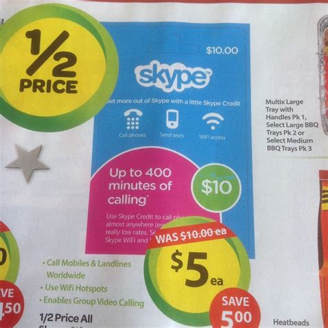 Skype Gift Card Promo Code - 50 off all skype gift cards at woolworths ozbargain