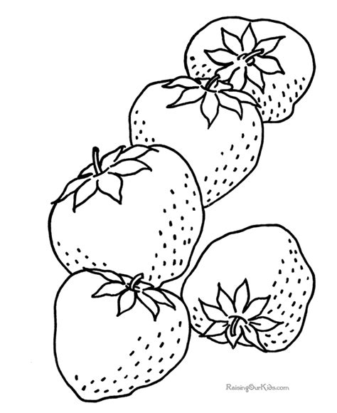 Fresh Strawberry Coloring Pages Team Colors Strawberry Coloring Page