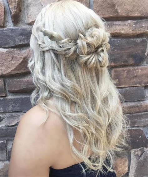half updo bun hairstyles 50 half up half down hairstyles for everyday and party looks