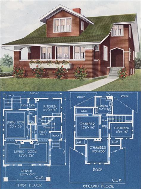 1921 modern bungalow type house c l bowes american