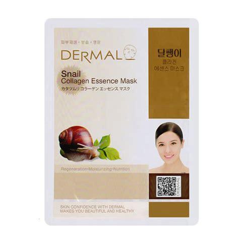 Masker Dermal dermal snail collagen essence mask 10sheets dermal mask