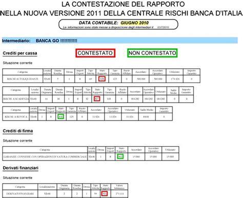d italia centrale dei rischi le pi 249 importanti segnalazioni in centrale rischi