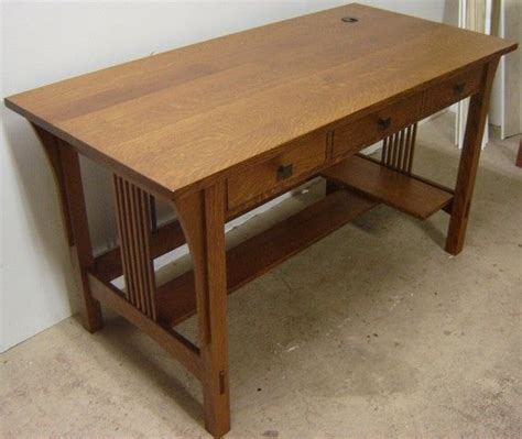 mission style desks for home office mission style arts hand made new solid quarter sawn white oak wood mission