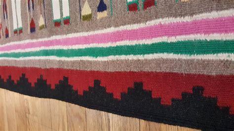 yei rugs antique navajo yei rug rug handmade wool rug gray color for sale at 1stdibs