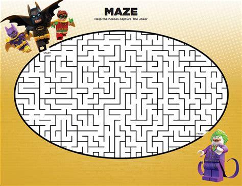 printable batman maze quot the lego batman movie quot warner bros
