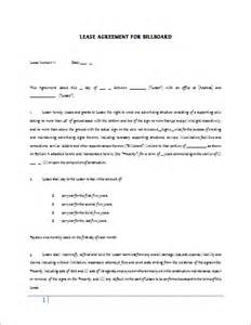 billboard lease contract template for word document hub