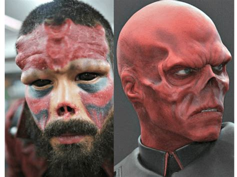 nose tattoo cuts nose tattoos to look like marvel villain