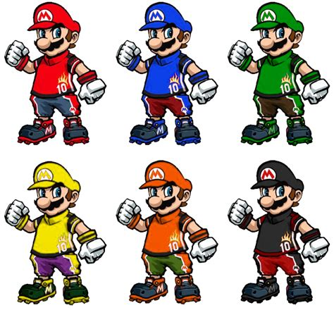 mario colors striker mario recolors by shadowgarion on deviantart