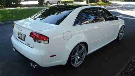 how it works cars 2007 audi rs4 navigation system buy used white 2007 audi s4 with rs4 body base sedan 4 door 4 2l v8 in fort lauderdale florida