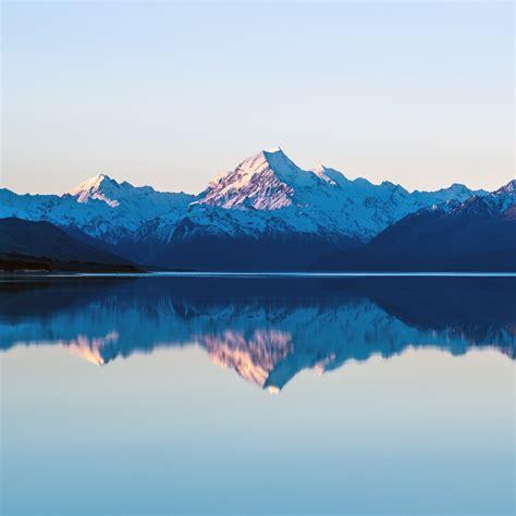 iwallpapers lake reflection snow mountain ipad pro
