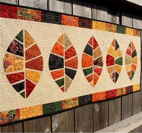 thanksgiving table runner quilt patterns quilted decor thanksgiving patterns leaf