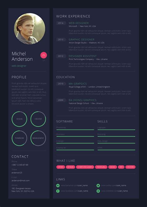 Sample Of One Page Resume by 9 Creative Resume Design Tips With Template Examples