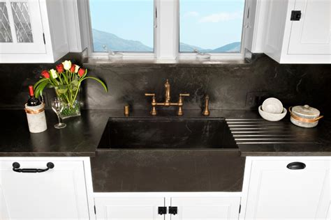 traditional kitchen sinks soapstone werks custom sinks traditional kitchen san