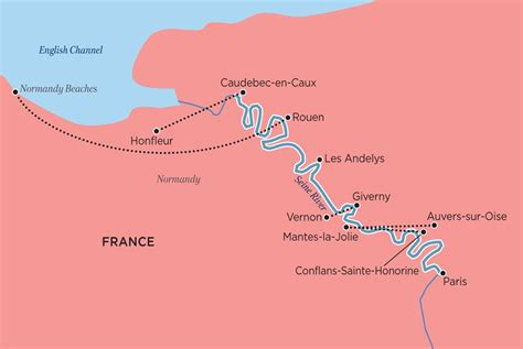 seine river map from water lilies to water buffalo world s best river cruises