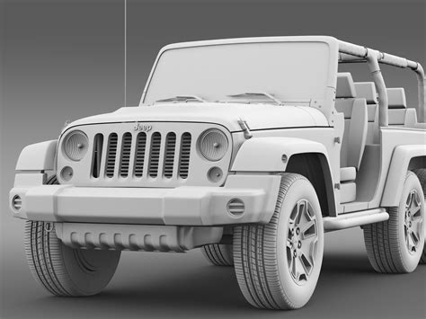 Best Jeep Model Jeep Wrangler Rubicon 6x6 2016 3d Model In 3d Studio 3ds