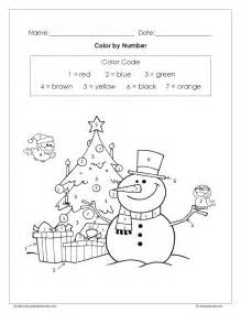 coloring pages free christmas color by number worksheet