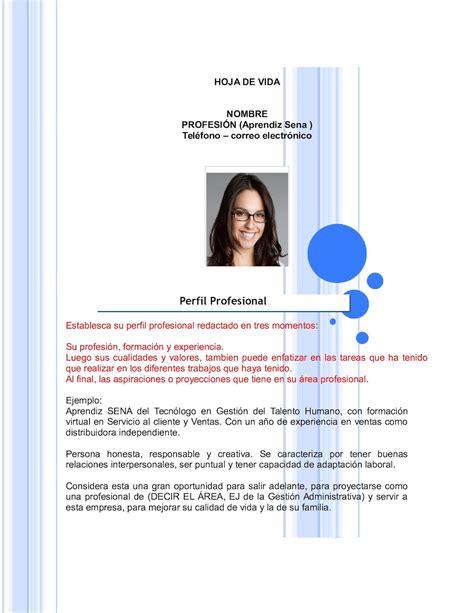 abhijit de perfil profesional calam 233 o formato hoja de vida