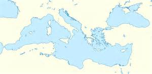 Blank Map Of The Mediterranean Region by File Mediterranean Sea Location Map Blank Svg