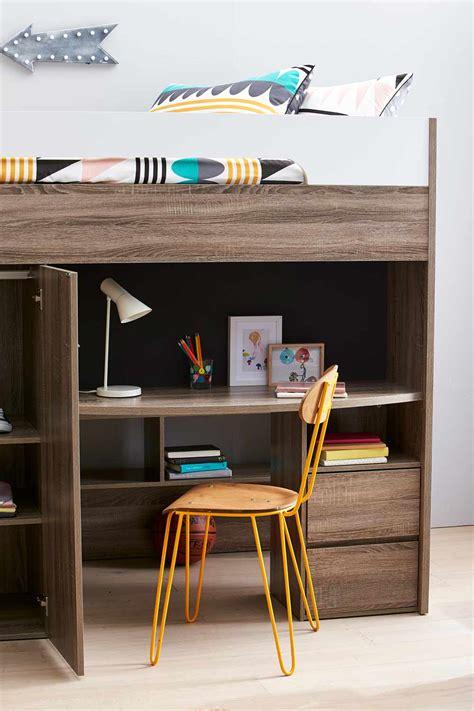 quantum loft bed desk mocha oak bedroom furniture