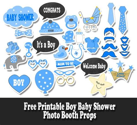 printable cute baby photo booth props multicolor free printable boy baby shower photo booth props baby