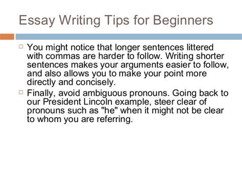 Essay Writing Tips For by Essay Writing Tips For Beginners By Helene Kozma