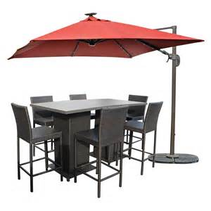 Patio Pub Tables Tk Classics Napa Pub Table Set With Barstools 5 Outdoor Wicker Patio Furniture