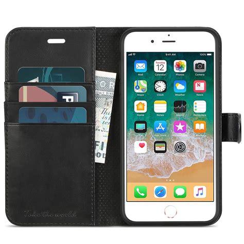 tucch iphone 8 plus wallet iphone 7 plus premium pu leather flip folio