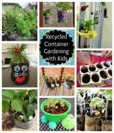 recycled container gardening with kids inspiration laboratories