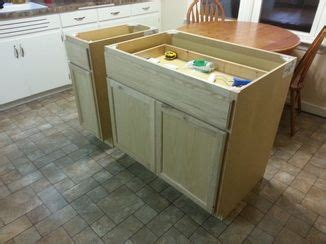 build kitchen island with base cabinets diy kitchen island from stock cabinets home ideas