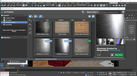 match 3ds max substance and 3ds max a match allegorithmic
