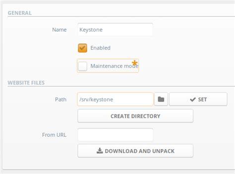 keystone node js tutorial setting up a node js website with ajenti v keystone