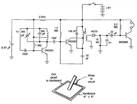 bfo metal detector circuit diagram bfo metal detectors circuit diagram electronic circuits