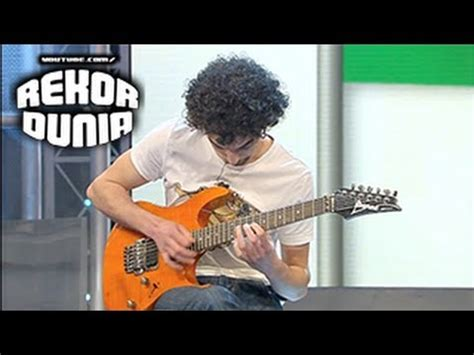 tutorial bermain gitar canon rock rekor dunia pemain gitar tercepat di dunia youtube