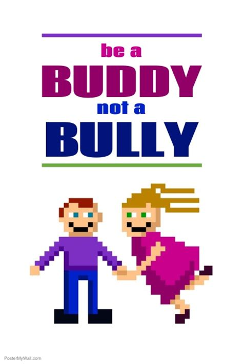 Anti Bullying Poster Template Postermywall Anti Bullying Poster Templates