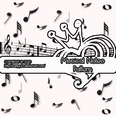 music notes pattern free musical notes pattern free photoshop brushes at brushez