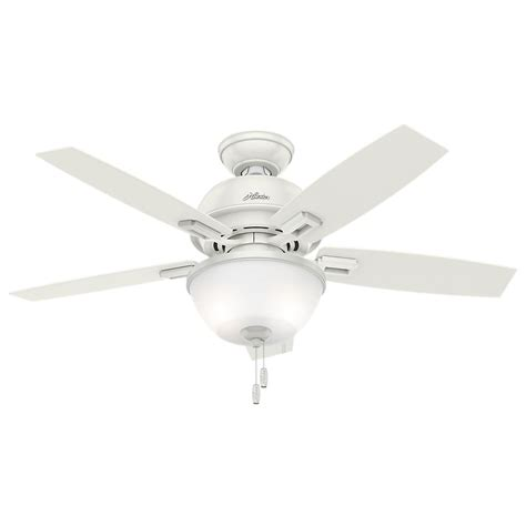 ceiling fan with bowl light donegan 44 in led indoor fresh white ceiling fan
