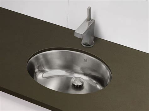 Stainless Steel Bathroom Sinks by Decolav Stainless Steel Undermount Oval Sink Brushed