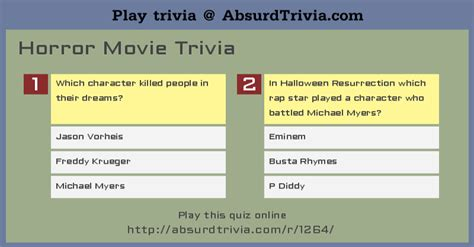 film trivia quiz online horror movie trivia