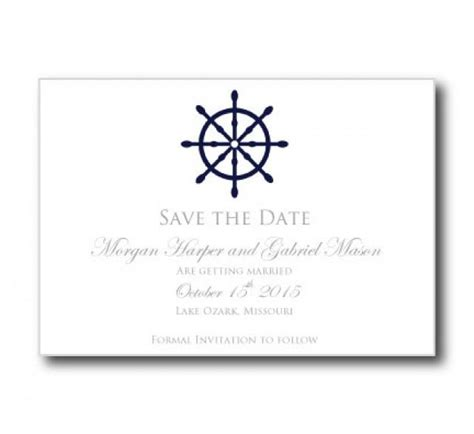 printable save the date card templates nautical save the date card template quot nautical wheel