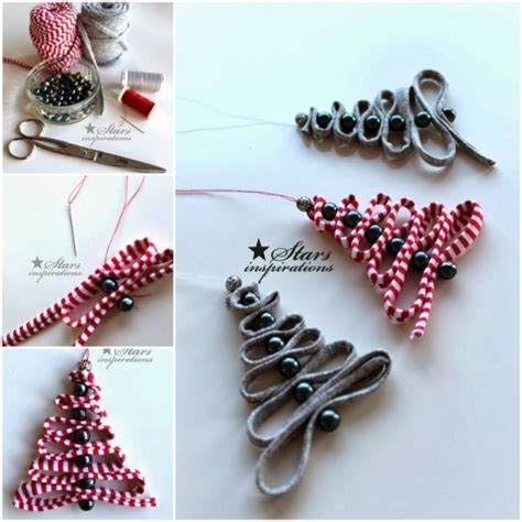 easy diy tree decorations diy easy ribbon bead tree ornament